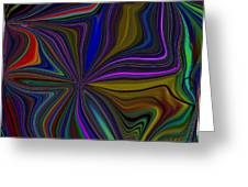 Conglomerate Of The Color Wheel Greeting Card