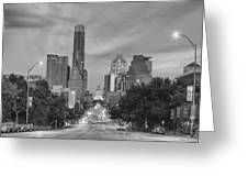 Congress Andtexas Capitol Black And White 1 Greeting Card