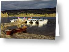 Coniston Water Boats Greeting Card