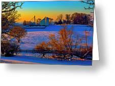 Conley Road Farm Winter  Greeting Card