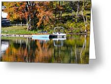 Connect Lake In The Fall Greeting Card