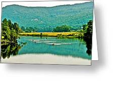Connecticut River Between New Hampshire And Vermont Greeting Card
