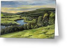 Connecticut River Valley View Two Greeting Card