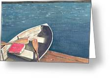 Connetquot Park Row Boat Greeting Card by Sheryl Heatherly Hawkins