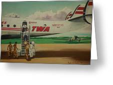 Connie Crew Deplaning At Columbus Greeting Card