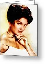 Connie Francis, Music Legend By John Springfield Greeting Card