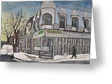 Connie's Pizza Psc Greeting Card by Reb Frost