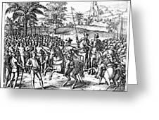 Conquest Of Inca Empire Greeting Card