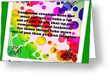 Conscious Decision Greeting Card
