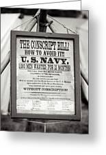 Conscript Bill  Greeting Card
