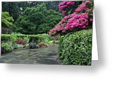 Conservatory Rain Greeting Card