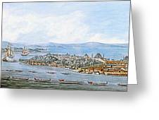 Constantinople Ships Greeting Card