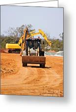 Construction Digger Greeting Card