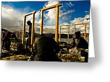 Construction In Ladakh Greeting Card