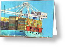 Container Jockey Greeting Card