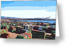 Container Terminal Greeting Card