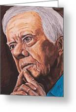 Contemplation - Jimmy Carter Greeting Card