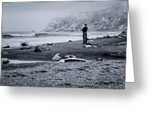 Contemplation - Beach - California Greeting Card