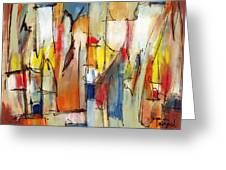 Contemporary Art Eight Greeting Card