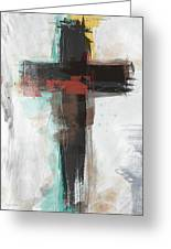 Contemporary Cross 1- Art By Linda Woods Greeting Card