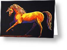 Contemporary Equine Painting Illuminating Spirit Greeting Card