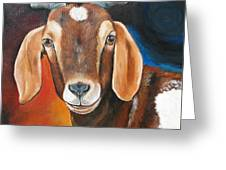 Contemporary Goat Greeting Card by Laura Carey