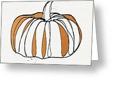 Contemporary Pumpkin- Art By Linda Woods Greeting Card