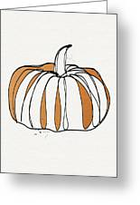 Contemporary Pumpkin- Art By Linda Woods Greeting Card