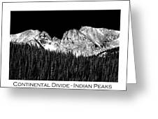 Continental Divide - Indian Peaks - Poster Greeting Card