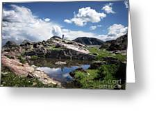 Continental Divide Above Twin Lakes 2 - Weminuche Wilderness Greeting Card
