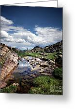 Continental Divide Above Twin Lakes 3 - Weminuche Wilderness Greeting Card