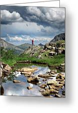 Continental Divide Above Twin Lakes 4 - Weminuche Wilderness Greeting Card