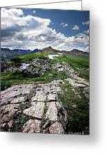 Continental Divide Above Twin Lakes 6 - Weminuche Wilderness Greeting Card