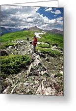 Continental Divide Above Twin Lakes 7 - Weminuche Wilderness Greeting Card