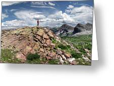 Continental Divide Above Twin Lakes - Weminuche Wilderness Greeting Card