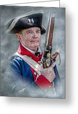 Continental Soldier Portrait Greeting Card