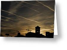 Contrails At Sunrise Greeting Card