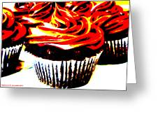 Contrasted Cupcake Greeting Card