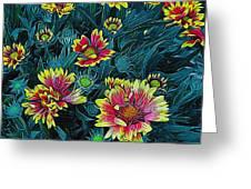 Contrasting Colors Digital Art Greeting Card