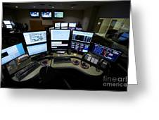Control Room Center For Emergency Greeting Card by Terry Moore