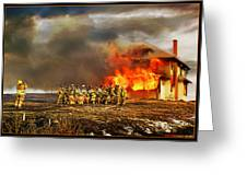 Controlled Burn Greeting Card