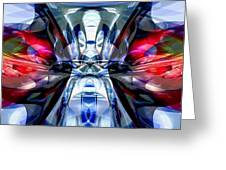 Convergence Abstract Greeting Card by Alexander Butler