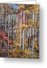 Converging Colors Greeting Card