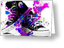 Convers All Stars Greeting Card