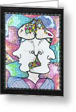 Conversations Between Us II Greeting Card by Adrienne Fritze