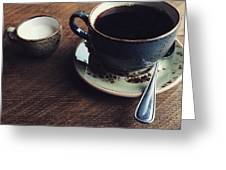 Conversations Over Coffee  Greeting Card