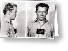 Convict No. 1428 - Whitey Bulger - Alcatraz 1959 Greeting Card