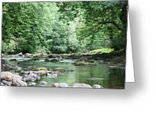 Conwy River Near Betws Y Coed.  Greeting Card