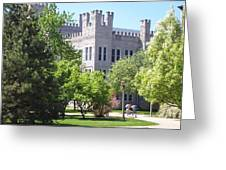 Cook Hall Illinois State Univerisity Greeting Card