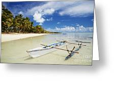 Cook Islands, Aitutaki Greeting Card by Bob Abraham - Printscapes